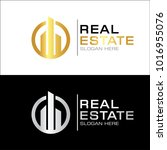 modern real estate logo template | Shutterstock .eps vector #1016955076