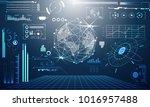 abstract technology ui... | Shutterstock .eps vector #1016957488