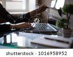 integration concept. industrial ... | Shutterstock . vector #1016958952