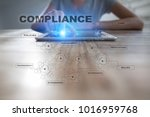 compliance on the virtual... | Shutterstock . vector #1016959768