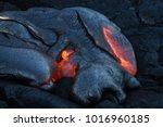 lava flow in hawaii | Shutterstock . vector #1016960185