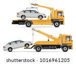 tow truck vector mock up.... | Shutterstock .eps vector #1016961205