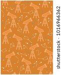 telescopes and stars pattern... | Shutterstock .eps vector #1016966362
