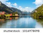 odda is a town in hardanger... | Shutterstock . vector #1016978098