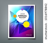 cover annual report abstract... | Shutterstock .eps vector #1016978842