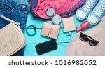 women's trendy accessories ...   Shutterstock . vector #1016982052