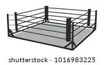 sketch of boxing ring | Shutterstock .eps vector #1016983225