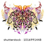 decorative colorful butterfly... | Shutterstock .eps vector #1016991448
