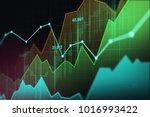 stock market or forex trading... | Shutterstock . vector #1016993422