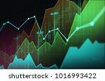 stock market or forex trading... | Shutterstock . vector #1016993422