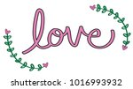 happy valentines day lettering | Shutterstock .eps vector #1016993932