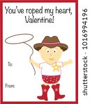 you have roped my heart... | Shutterstock .eps vector #1016994196