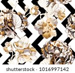 floral seamless pattern with... | Shutterstock .eps vector #1016997142
