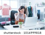 online sales are answering... | Shutterstock . vector #1016999818