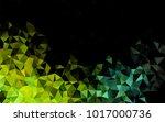 light blue  yellow vector low... | Shutterstock .eps vector #1017000736