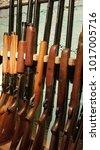 Small photo of Gun rack with shut guns
