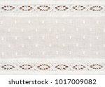 closeup of white cotton fabric... | Shutterstock . vector #1017009082