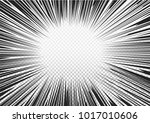 black radial lines comics style ... | Shutterstock .eps vector #1017010606