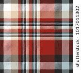 plaid check pattern in red ... | Shutterstock .eps vector #1017011302