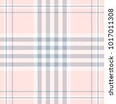 plaid check pattern in pale... | Shutterstock .eps vector #1017011308