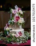 wedding cake at reception | Shutterstock . vector #1017015475