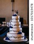 wedding cake at reception | Shutterstock . vector #1017015478