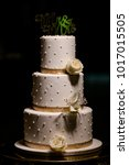 wedding cake at reception | Shutterstock . vector #1017015505