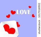 cartoon vector of valentine's... | Shutterstock .eps vector #1017018502