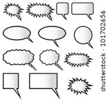 comic speech bubbles | Shutterstock . vector #101702656