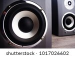 audio speakers  close up  on a... | Shutterstock . vector #1017026602