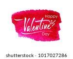 happy valentine's day ... | Shutterstock .eps vector #1017027286