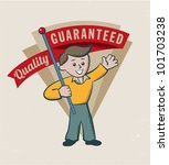 vintage retro guarantee logo... | Shutterstock .eps vector #101703238