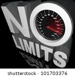 the words no limits with a... | Shutterstock . vector #101703376