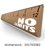 the words no limits on a ruler... | Shutterstock . vector #101703382