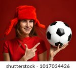 Russian style fan sport woman...