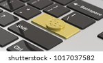 cryptocurrency concept. golden... | Shutterstock . vector #1017037582