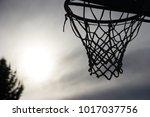 basket silhuette against a... | Shutterstock . vector #1017037756