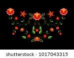 polish folk pattern vector....   Shutterstock .eps vector #1017043315
