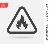 fire warning dangerous flame... | Shutterstock .eps vector #1017046195