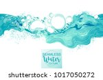 water splash in blue color... | Shutterstock .eps vector #1017050272