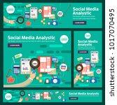 banner set flat design concept... | Shutterstock .eps vector #1017070495