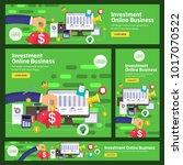 banner set flat design concept... | Shutterstock .eps vector #1017070522