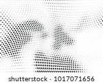 abstract halftone wave dotted... | Shutterstock .eps vector #1017071656