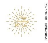 happy anniversary 35 burst... | Shutterstock .eps vector #1017072712
