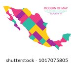 map of mexico   modern... | Shutterstock .eps vector #1017075805