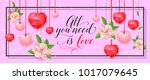 all you need is love banner...   Shutterstock .eps vector #1017079645
