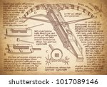 shooting weapon designed by... | Shutterstock .eps vector #1017089146