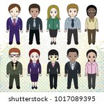 chibi style illustrations of... | Shutterstock .eps vector #1017089395