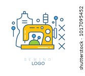 emblem with sewing machine ...   Shutterstock .eps vector #1017095452