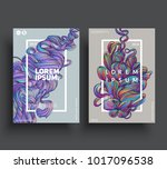 creative posters template. hand ... | Shutterstock .eps vector #1017096538